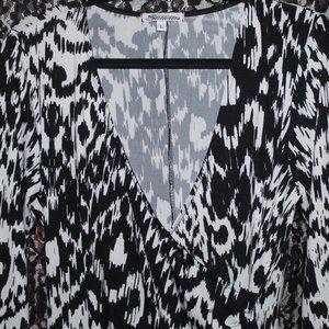 Stilettos Black and White Dress with wrap around
